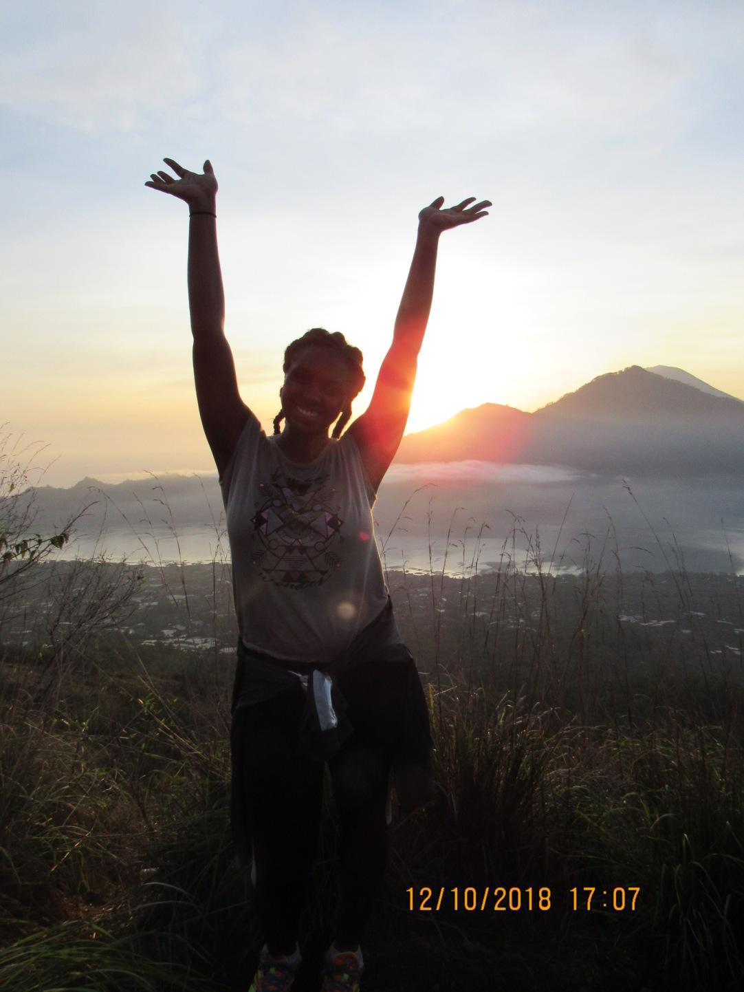 Me at the top of Mount Batur